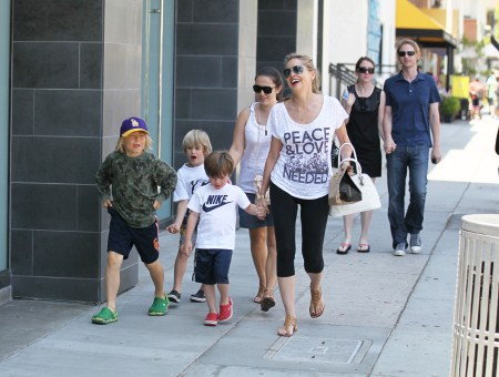 Sharon Stone Spends the Day With kids
