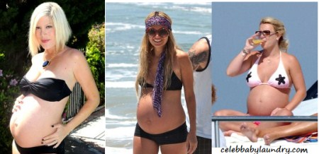 Celeb Pregnant Swimwear