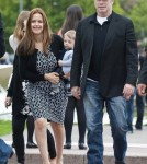 John Travolta, Kelly Preston and Family in Paris
