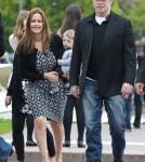 John Travolta, Kelly Preston and Family in Paris