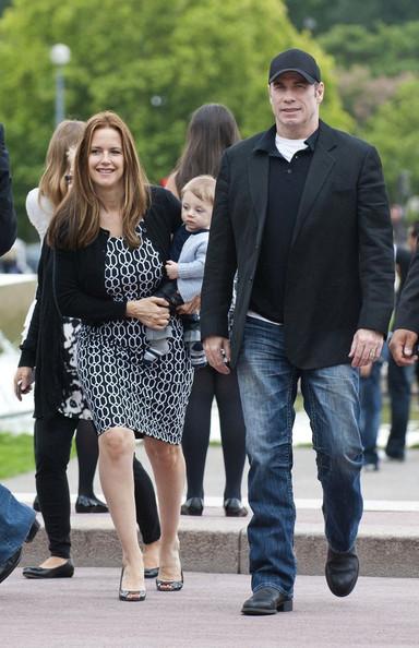 John Travolta and Family in Paris