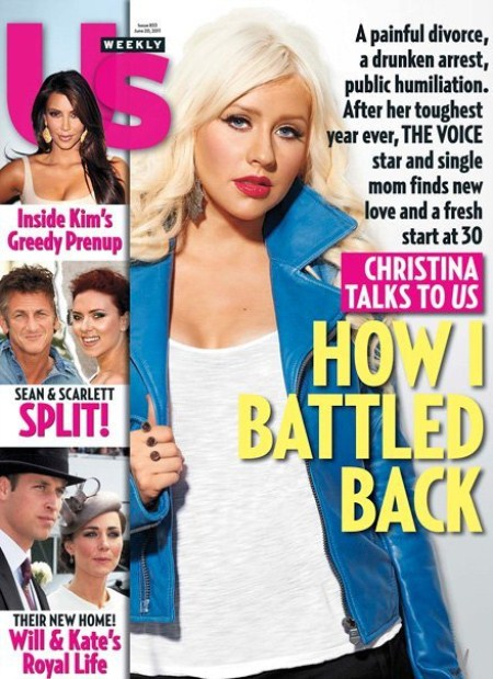Christina Aguilera on the Cover of US Weekly
