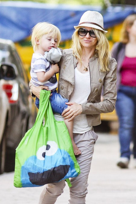 Naomi Watts and Son With Cookie Monster
