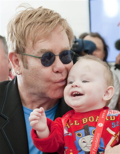 Elton John and Zachary