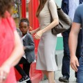 Angelina Jolie Stops By The Toy Station With The Girls