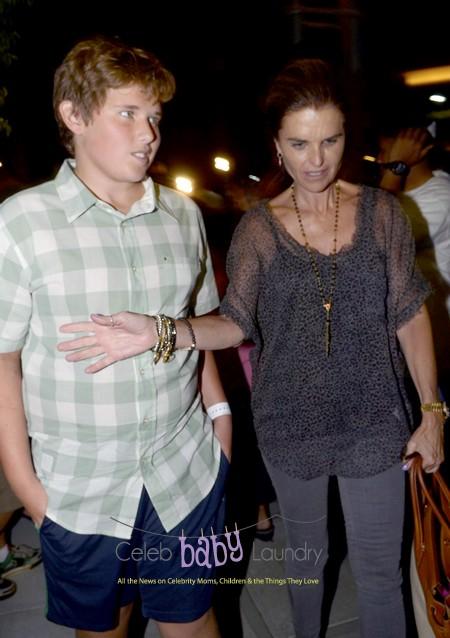 Maria Shriver Takes Her Son Chris Schwarzenegger To Dinner With Oprah Winfrey