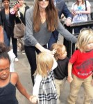 Angelina Jolie and Children at the london Aquarium