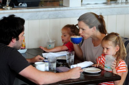 Jennifer Garner and Ben Affleck With Seraphina and Violet