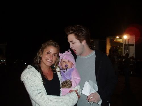 Robert Pattinson Asked to Bite a Baby