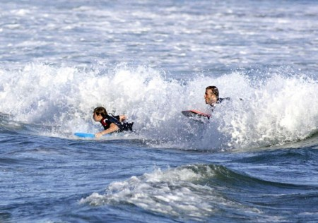 David Beckham Enjoys The Waves