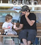 Jordan Bratman treats son Max to some gelato in LA 7.18