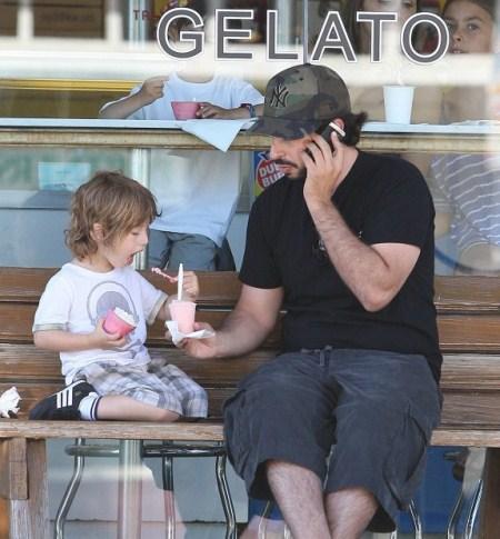 Jordan Bratman Takes Son Out For Gelato