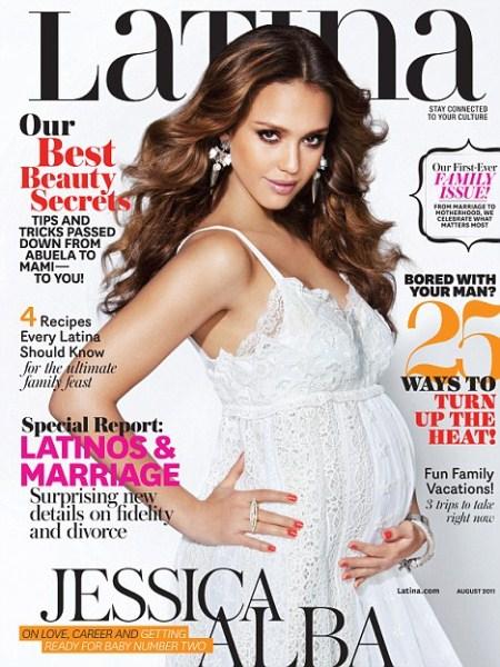 Jessica Alba on the Cover of Latina Magazine