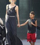 Heidi Klum walks her kids to their daycare centre in New York.
