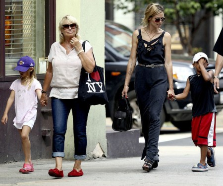 Heidi Klum Takes Her Children to Daycare