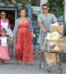 Jessica Alba and Cash Warren With Daughter Honor