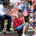 Jennifer Garner and Ben Affleck Take Their Daughters Violet and Seraphina to a July 4th Parade