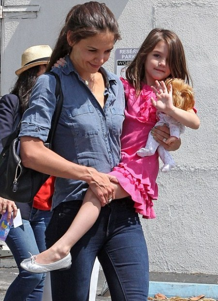 Katie Holmes Dedicates An Entire Month To Suri's Birthday