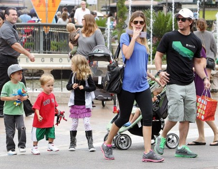 Mark Wahlberg Has a Family Day Out