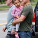 Matt Damon's Kids Slap His Bald Head
