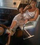Melanie Brown Pregnant in Heels