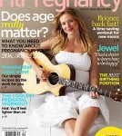 Jewel on the Cover of Fit Pregnancy