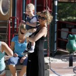 Rebecca Gayheart enjoys a day at the park with her daughter Billie Beatrice
