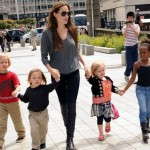 Angelina Jolie Throws Garden Party For Her Children