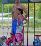 Will Smith with son Jayden and daughter Willow in Hawaii
