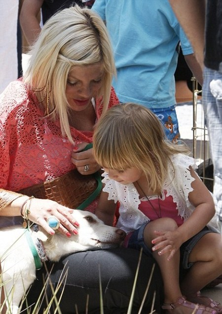 Tori Spelling Adopts A Family Dog