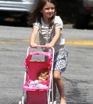Katie Holmes and Suri Cruise at Brentwood Country Mart