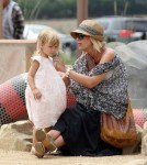 Tori Spelling and Dean McDermott spend the afternoon at the park with their children Liam and Stella