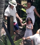 Tom Cruise and Suri Poolside in Miami