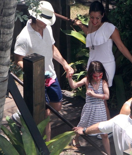 Tom Cruise and Suri Poolside in Miami