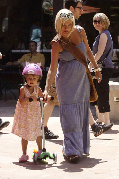 Tori Spelling and Her Daughter