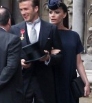 Victoria and David Beckham and the Royal Wedding