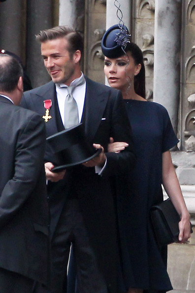 Victoria and David Beckham and the Royal Wedding