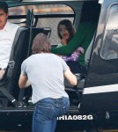 Tom Cruise and Family Hit the Heliport
