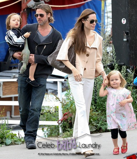 Jolie-Pitt Sold Pictures Of Their Twins So Paps Wouldn't Profit