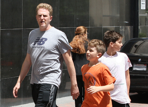 Actor Michael Rapaport Heads To Nike Town With Kids