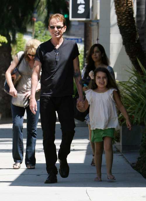Billy Bob Thornton Goes To The Studio With Daughter Bella