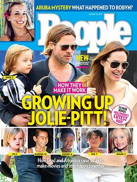 People: Brad Pitt & Angelina Jolie - Inside Their Family (Photo)