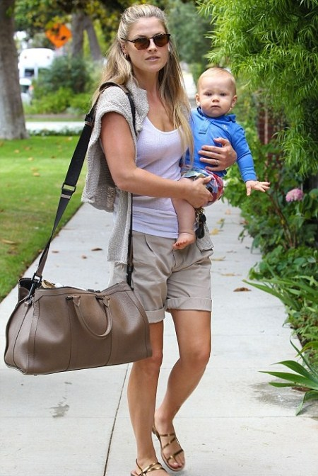 Ali Larter and Son Theodore (Teddy) Running Errands in LA