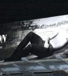 Patrick Schwarzenegger, Arnie's son, bares his chest in a billboard advert for Hudson Jeans