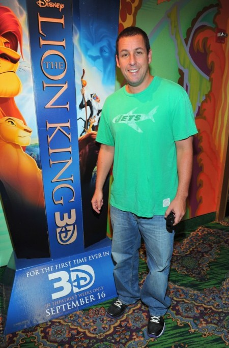 Adam Sandler at The Lion King 3d Premieres