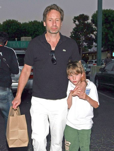 David Duchovny And Son Kyd Out For Dinner In Malibu