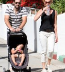 Katherine Heigl joined her husband singer Josh Kelley on a stroll with their daughter Naleigh