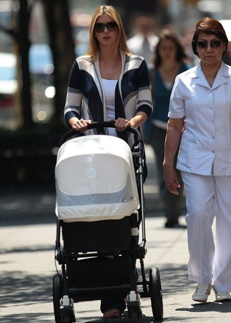 Ivanka Trump Strolls With Arabella and Nanny