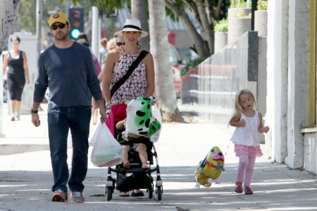 Jason Priestley With His Family
