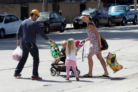 Jason Priestley Has A Market Day With Family